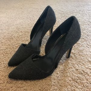 Stylish charcoal pumps
